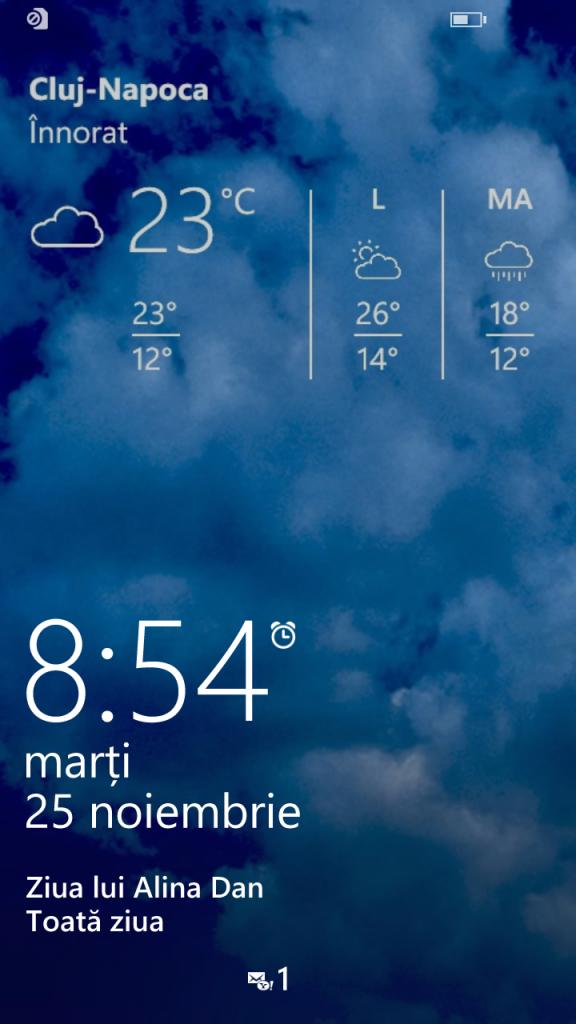 11.Poza Lumia 830 Ecran blocat