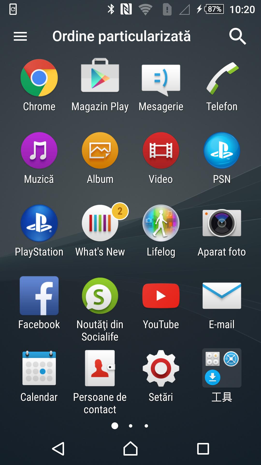 7Poza Sony Xperia Z3+meniu v1