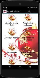 2.Poza Aplicatie Versuri Colinde