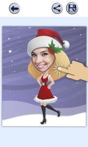 3.Poza Aplicatie Face photo editor Christmas