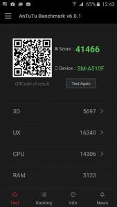 12.Poza Samsung Galaxy A5(2016) Antutu v1