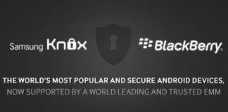 samsung knox blackberry
